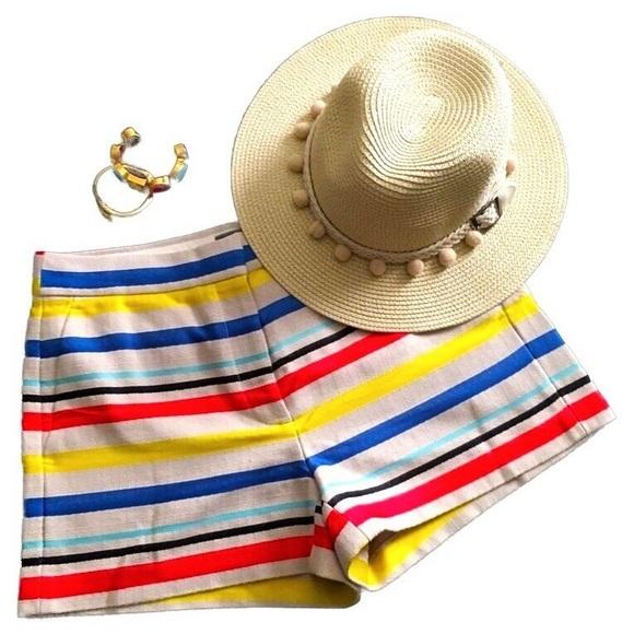 J. Crew Pants - J. Crew Tan Horizontal Striped Textured Shorts